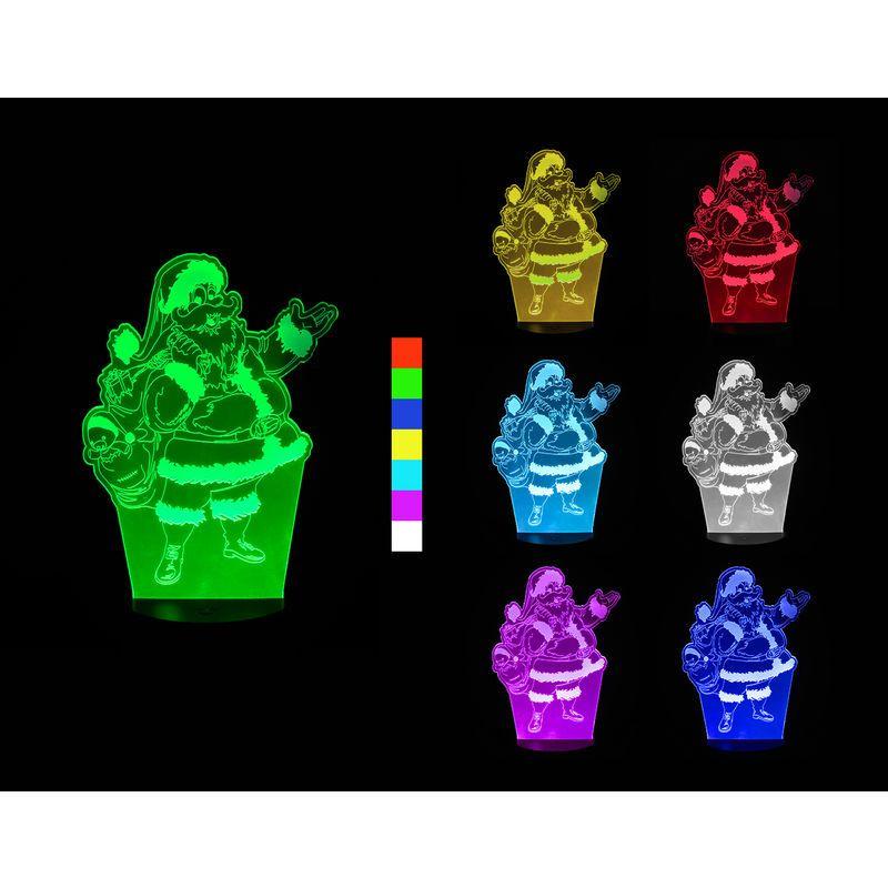 3D LED lampa - Santa Claus Nářadí-Sklad 1   0