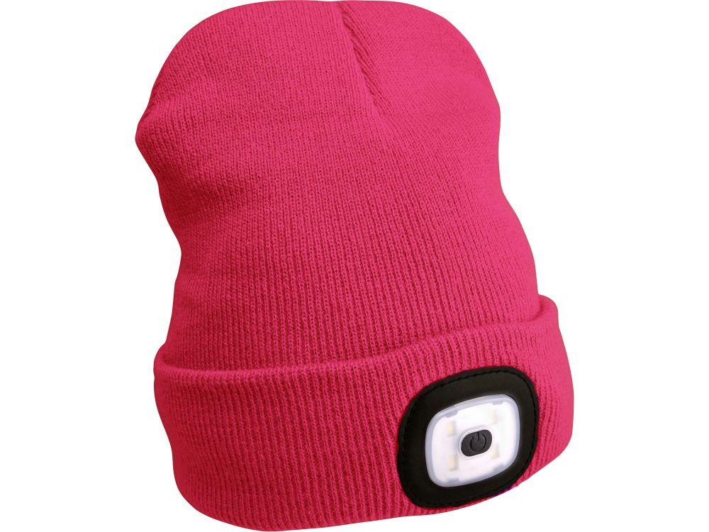 Čepice s čelovkou, nabíjecí, USB, růžová, univerzální velikost Nářadí-Sklad 1 | 0