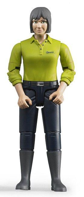 Figurka - Žena (světlá pleť), tmavé kalhoty 60405 BRUDER Nářadí-Sklad 1 | 0