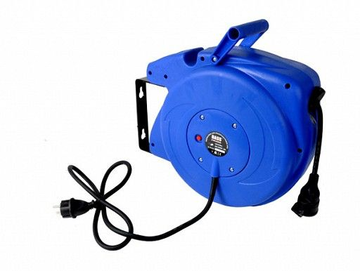 Kabel prodlužovací s bubnem 15m, samonavíjecí, BASS