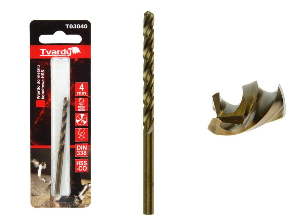 Kobaltový vrták do kovu HSS-Co, M35, 4mm TVARDY