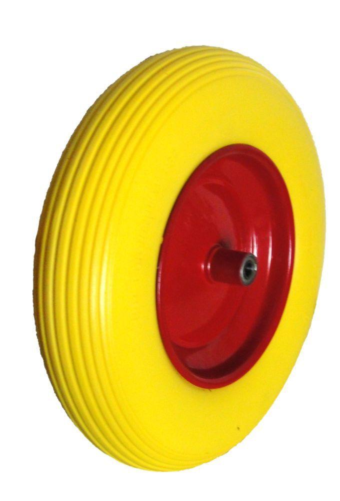 """Kolo nenafukovací plné - žluté 4""""/R8 MAR-POL"""