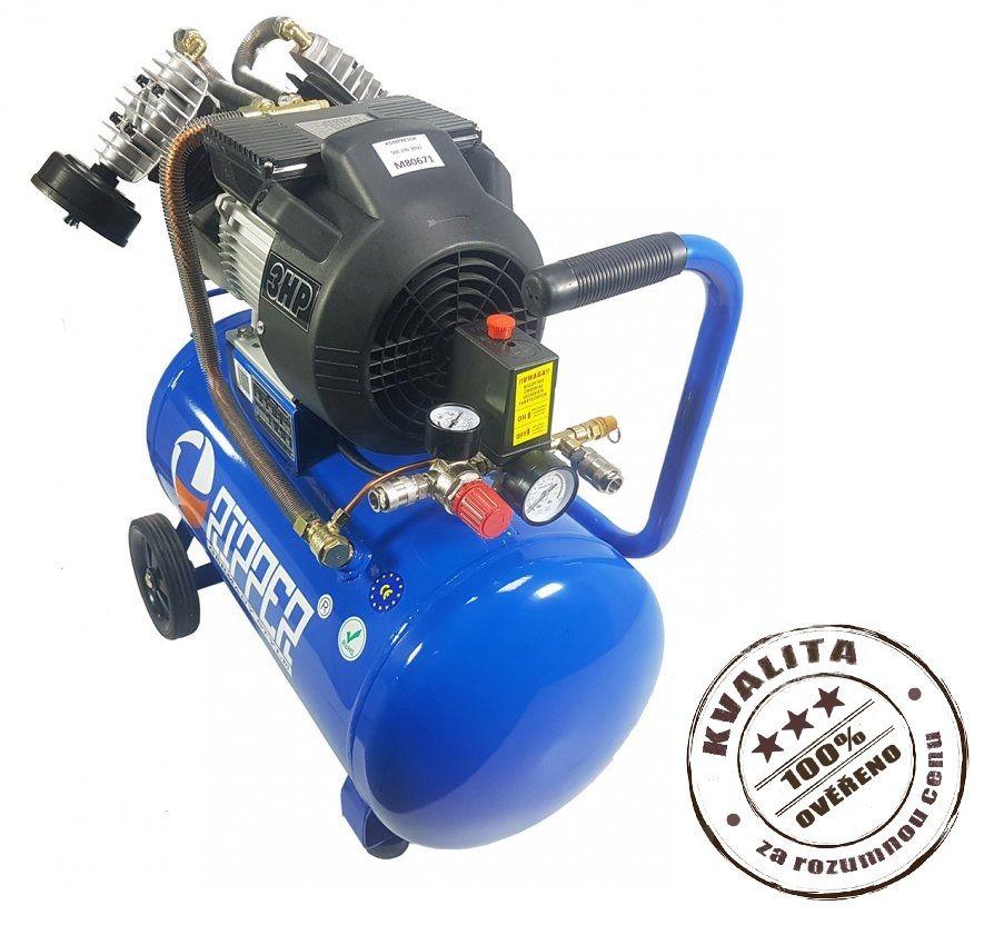 Kompresor olejový dvoupístový 50l 2,2kW RIPPER