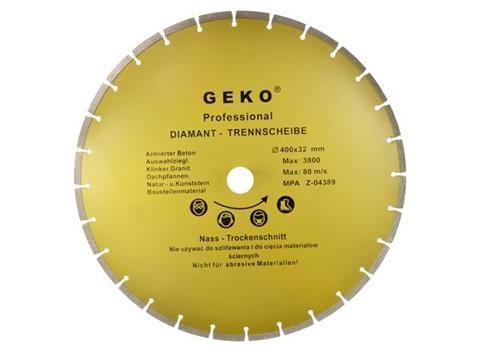 Kotouč řezný diamantový segmentový 400x8x32mm GEKO