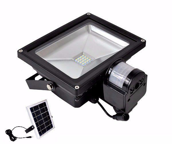 LED reflektor 20W s pohybovým senzorem a solárním panelem BASS