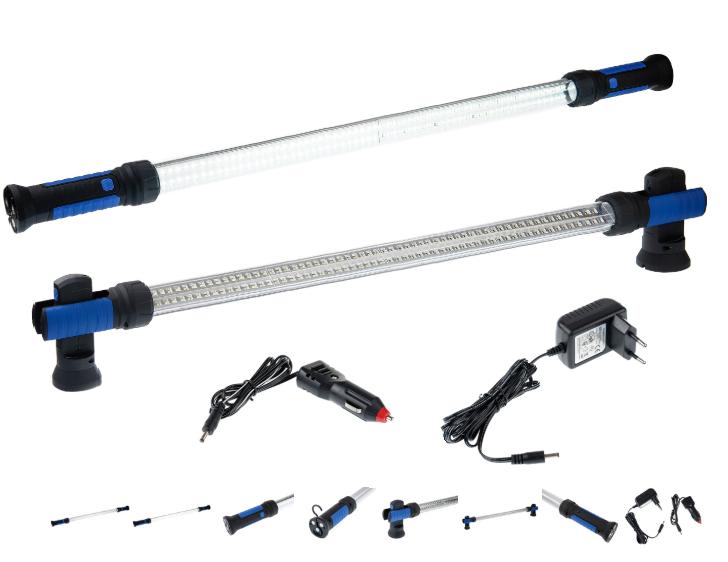 Montážní aku lampa s magnety, 230V, 12V, 120LED GEKO