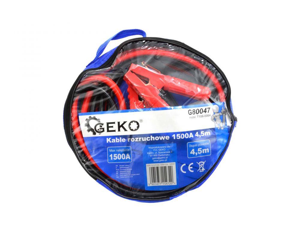 Startovací kabely 1500A, 4,5m GEKO