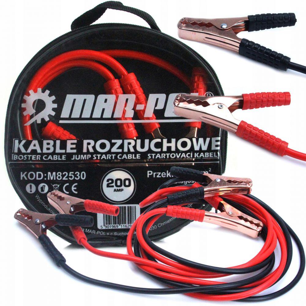 Startovací kabely 200A, 2m, 6mm2 MAR-POL