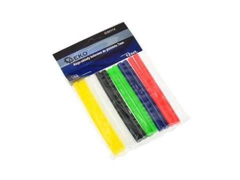 Tavné tyčinky 7mm 12ks barevné GEKO