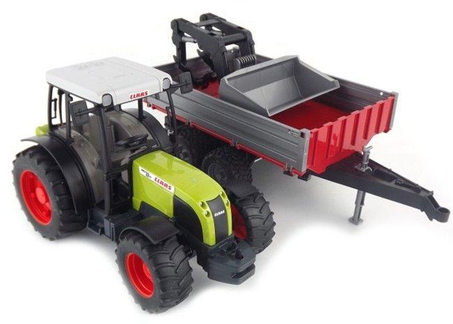 Traktor Claas Nectis 267F + čelní nakladač + sklápěcí přívěs 02112 BRUDER Nářadí-Sklad 1 | 0