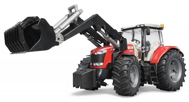 Traktor Massey Ferguson 7624 s čelním nakladačem 03047 BRUDER Nářadí-Sklad 1 | 0