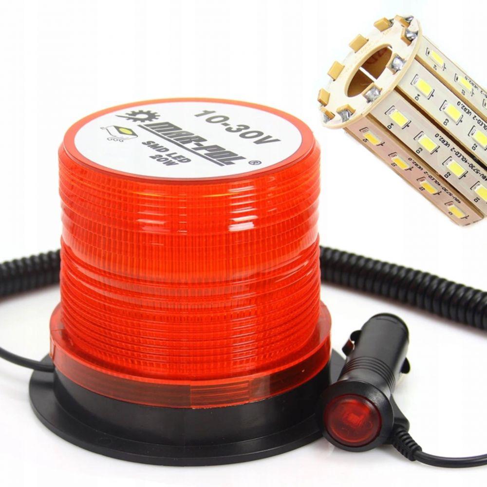 Výstražný maják, světlo oranžové 10-30V, 40 LED M82712 MAR-POL