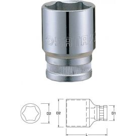 "13302 1/2"" 6-ti hranná nástrčná hlavice 11mm SATA"
