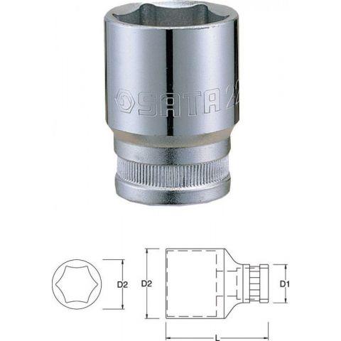 "13315 1/2"" 6-ti hranná nástrčná hlavice 24mm SATA"