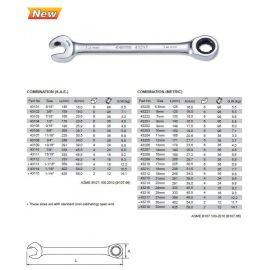 43204 Oboustranný klíč očko-ráčnový/otevřený-ráčnový 11mm SATA