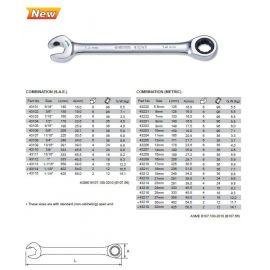 43213 Oboustranný klíč očko-ráčnový/otevřený-ráčnový 21mm SATA
