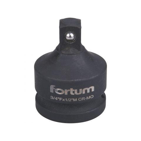 """Adaptér, čtyřhran vnitřní 3/4""""- vnější 1/2"""", bez otvoru pro trhák, 61CrV5, FORTUM"""