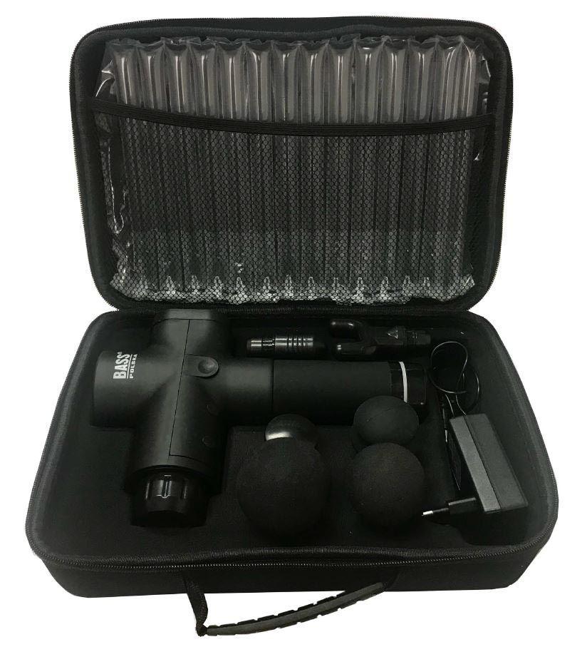 Aku masážní přístroj 24V s vyměnitelnými hlavicemi BASS