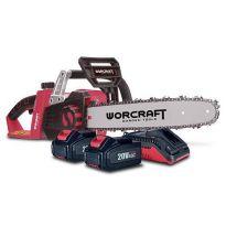 Aku řetězová pila 35cm WORCRAFT(S20Li) CGC-S40Li SET 2x20V/4.0Ah + nabíječka TR111138