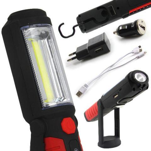 Aku LED pracovní svítilna s funkcí powerbanky 3W BJC