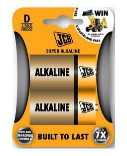 Alkalická baterie LR20/D, blistr 2 ks