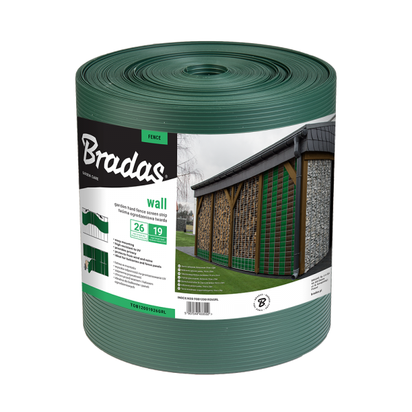 Balkónová, plotová páska 26m, 19cm, zelená SOLID Nářadí-Sklad 1 | 0