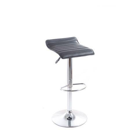 Barová židle G21 Fatea koženková, prošívaná black