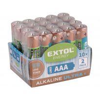 Baterie alkalické EXTOL ENERGY ULTRA +, 20ks, 1,5V AA (LR6), EXTOL LIGHT