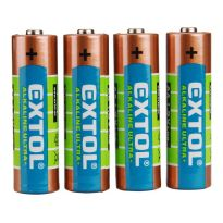 Baterie alkalické EXTOL ENERGY ULTRA +, 4ks, 1,5V AA (LR6), EXTOL LIGHT