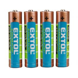 Baterie alkalické EXTOL ENERGY ULTRA +, 4ks, 1,5V AAA (LR03), EXTOL LIGHT