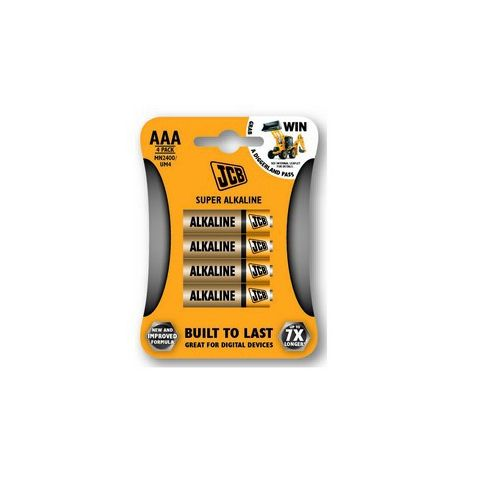Baterie JCB alkalická LR03/AAA, blistr 4ks