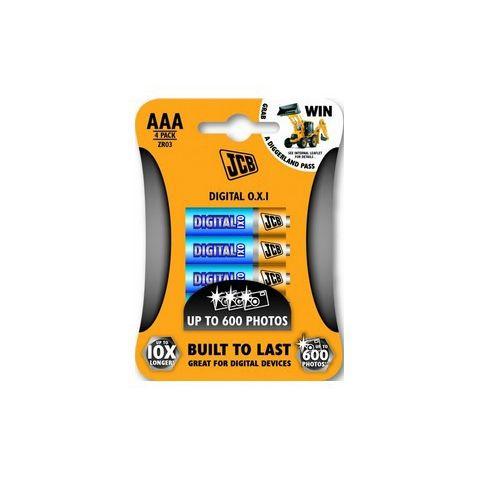 Baterie JCB OXI DIGITAL alkalická LR03/AAA, blistr 4ks