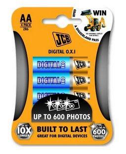 Baterie JCB OXI DIGITAL alkalická LR06/AA, blistr 4ks