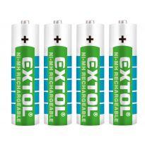 Baterie nabíjecí, 4ks, AA (HR6), 1,2V, 2400mAh, NiMh EXTOL ENERGY