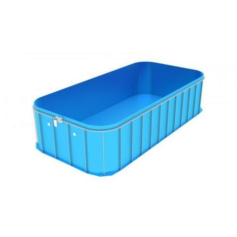 Bazén obdélníkový zakulacený bazén BOZR-6x2x1.5 KAXL