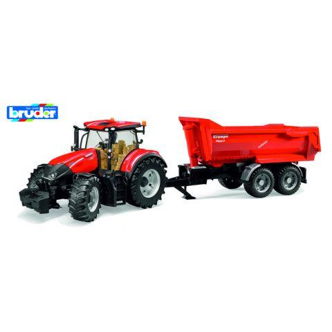 Bruder 3199 Traktor Case IH Optum 300 CVX s přívěsem