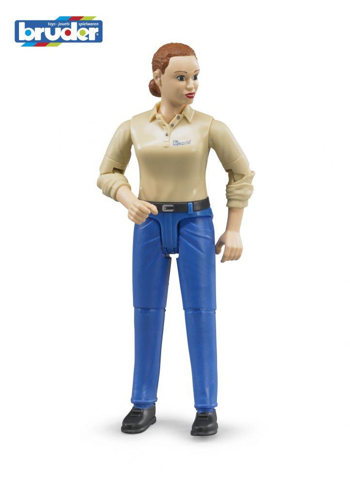 Bruder 60408 Figurka Žena modré jeans Nářadí-Sklad 1 | 0