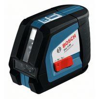 Čárový laser Bosch GLL 2-50 + L-BOXX, univerzál. držák BM 1 Professional, 0601063108