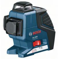 Čárový laser Bosch GLL 3-80 P + L-BOXX, las. přijímač, un. držák Professional, 060106330A