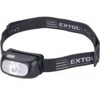 Čelovka 130lm CREE XPG, nabíjecí, USB, dosvit 40m, 5W CREE XPG LED EXTOL LIGHT