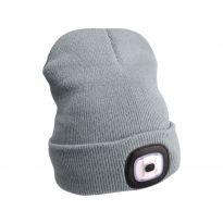 Čepice s čelovkou 45lm, nabíjecí, USB, šedá, univerzální velikost EXTOL LIGHT