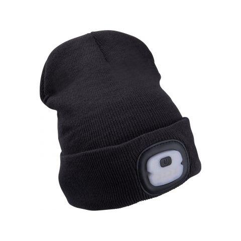 Čepice s čelovkou 4x25lm, nabíjecí, USB, tmavě šedá, ECONOMY, univerzální velikost EXTOL LIGHT