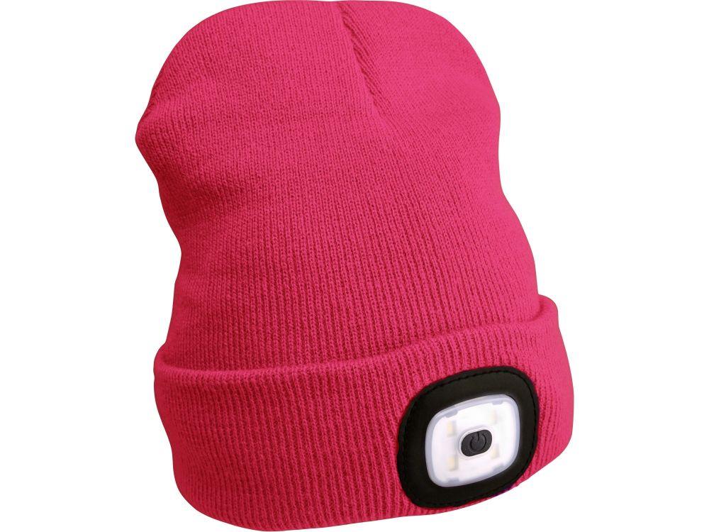 Čepice s čelovkou, nabíjecí, USB, růžová, univerzální velikost *HOBY 0Kg 43193