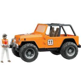 Cross Country Jeep Wrangler Unlimited oranžový + závodník 02542 BRUDER