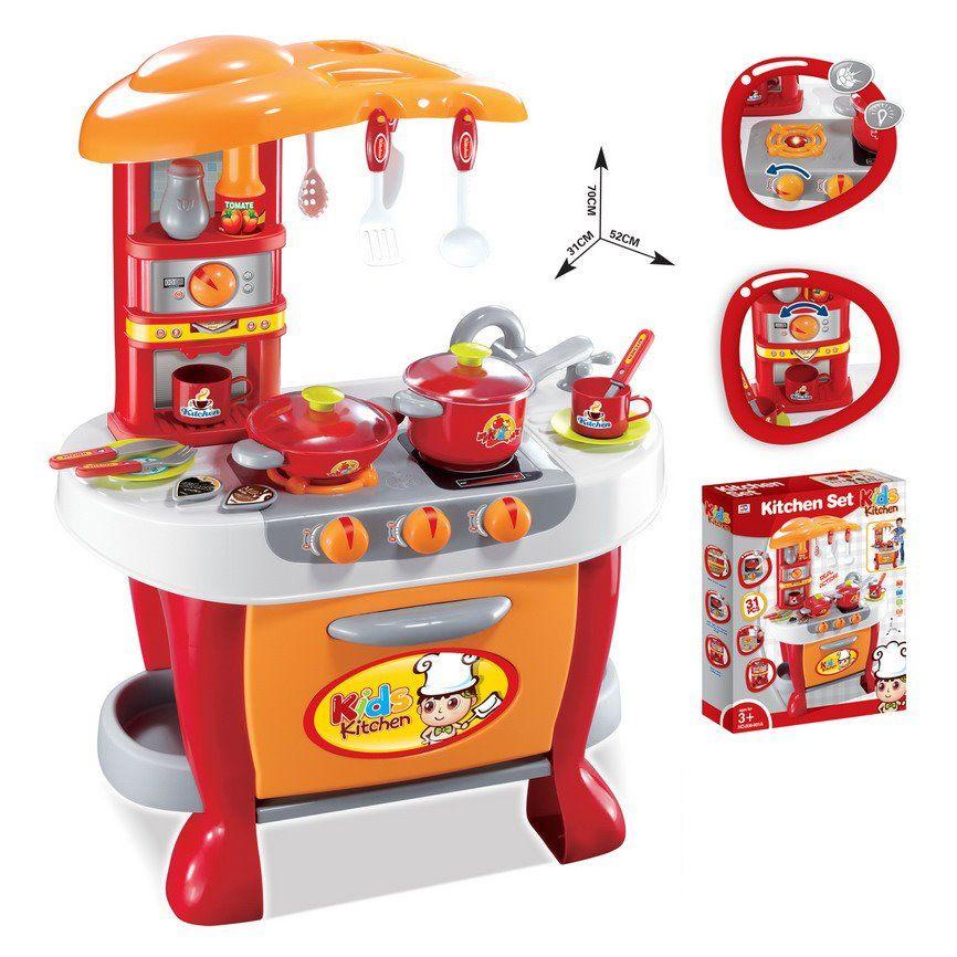 Hračka G21 Dětská kuchyňka Malý kuchař s příslušenstvím, oranžová Nářadí-Sklad 1 | 8