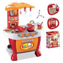 Hračka G21 Dětská kuchyňka Malý kuchař s příslušenstvím, oranžová