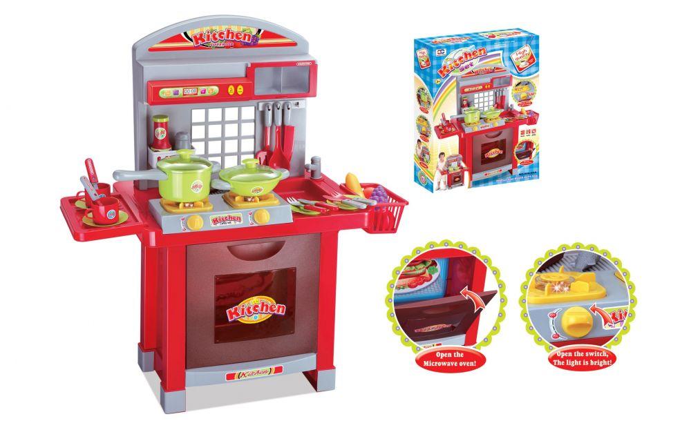 Hračka G21 Dětská kuchyňka Superior s příslušenstvím červená Nářadí-Sklad 1 | 8