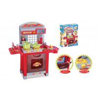 Hračka G21 Dětská kuchyňka Superior s příslušenstvím červená