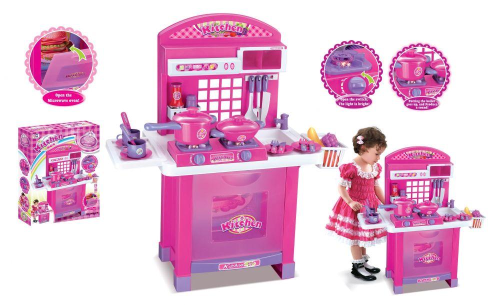 Hračka G21 Dětská kuchyňka Superior s příslušenstvím růžová Nářadí-Sklad 1 | 8