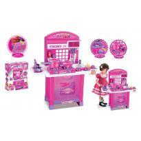 Hračka G21 Dětská kuchyňka Superior s příslušenstvím růžová